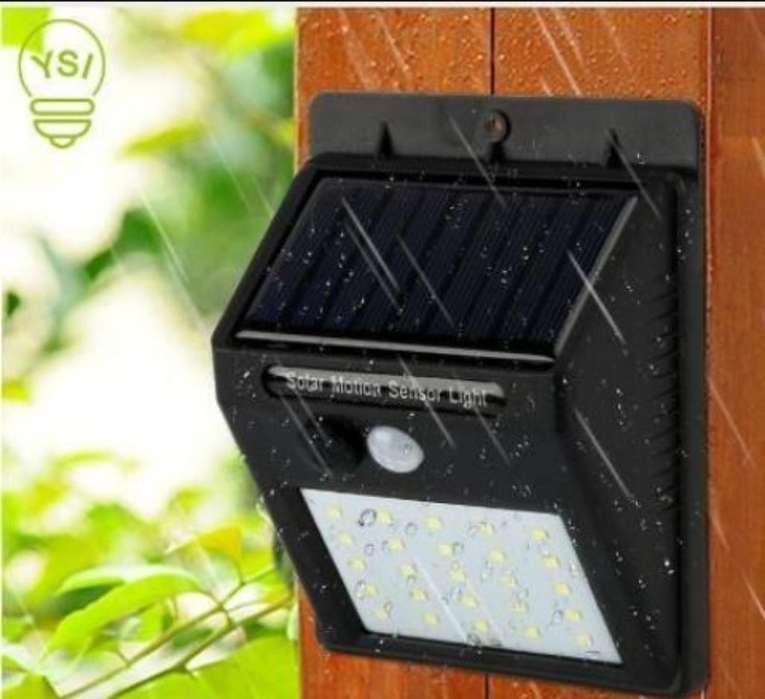 Lampara Solar Sensor Moviento Fotocelda
