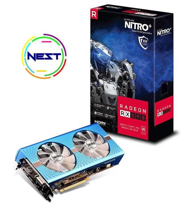 tarjeta de video Saphire Nitro Rx 590 Special Edition Nueva Sellada