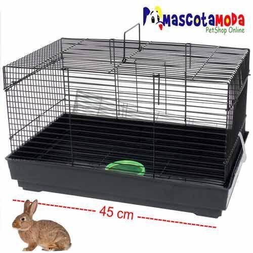 Jaula para conejos pequeños facil de limpiar