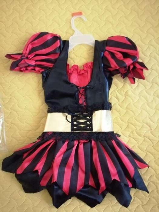 Vendo Hermoso Disfraz de Pirata Talla 6