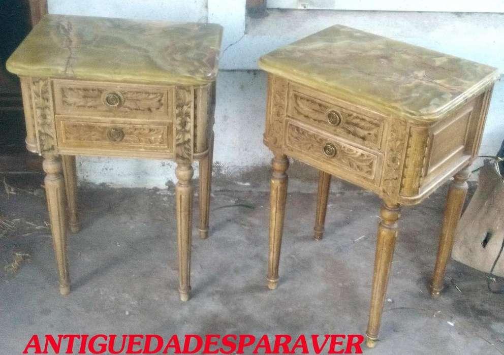 Par de mesas de luz estilo Frances romantico Luis XVI petit muebles