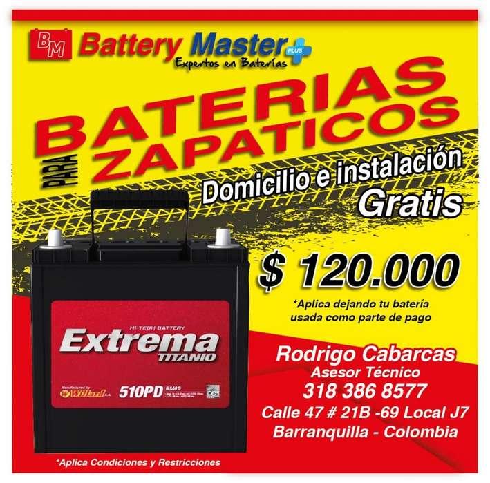 Baterías desde 120.000 Domicilio Gratis