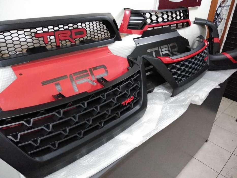 Rejillas Y Protector Carter Toyota Hilux - Fortuner