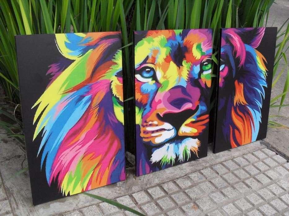 Obra decorativa divida en paneles 9955