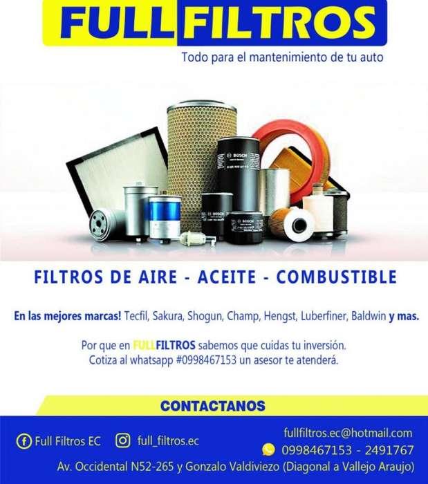 FILTROS DE AIRE ACEITE COMBUSTIBLE PARA AUTOS LIVIANOS Y PESADOS