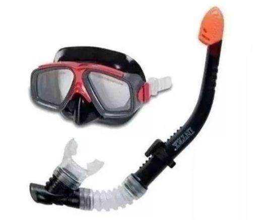Snorkel Set Careta Buceo Intex Original Policarbonato Envio