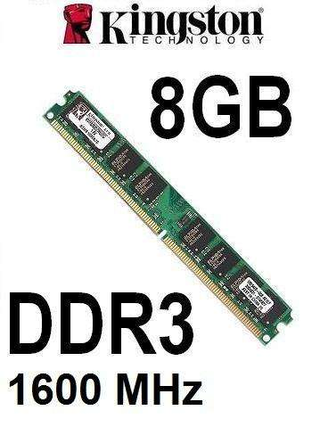 MEMORIA RAM KINGSTON DDR3 8GB PC3/12800 DE 1600MHZ PARA PC ESCRITORIO