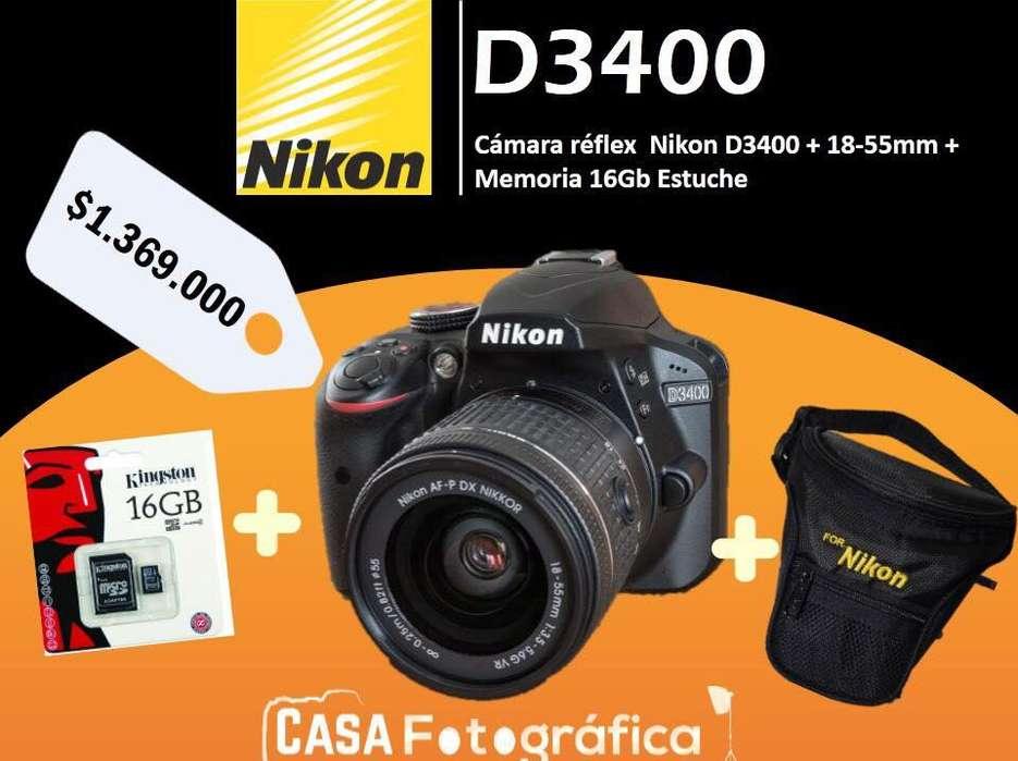LLEGARON CAMARAS FOTOGRAFICA PROFESIONAL CANON NIKON D3400 D5300 D5500 D5600 D7100 D7200