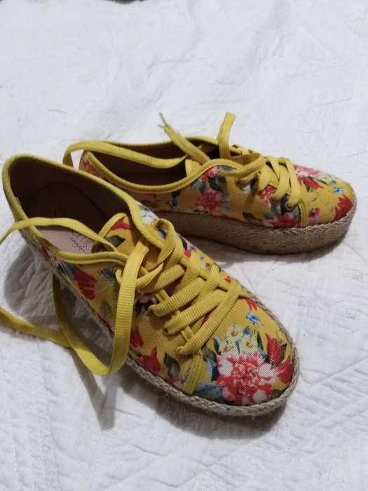 Zapatos Brasileros Floreados