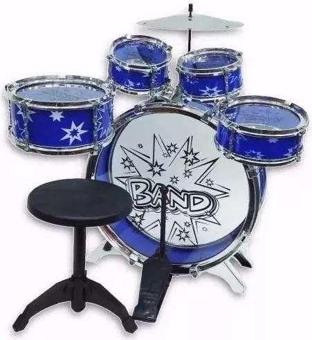 Batería musical big-bang juguete 5 tambores silla ninos