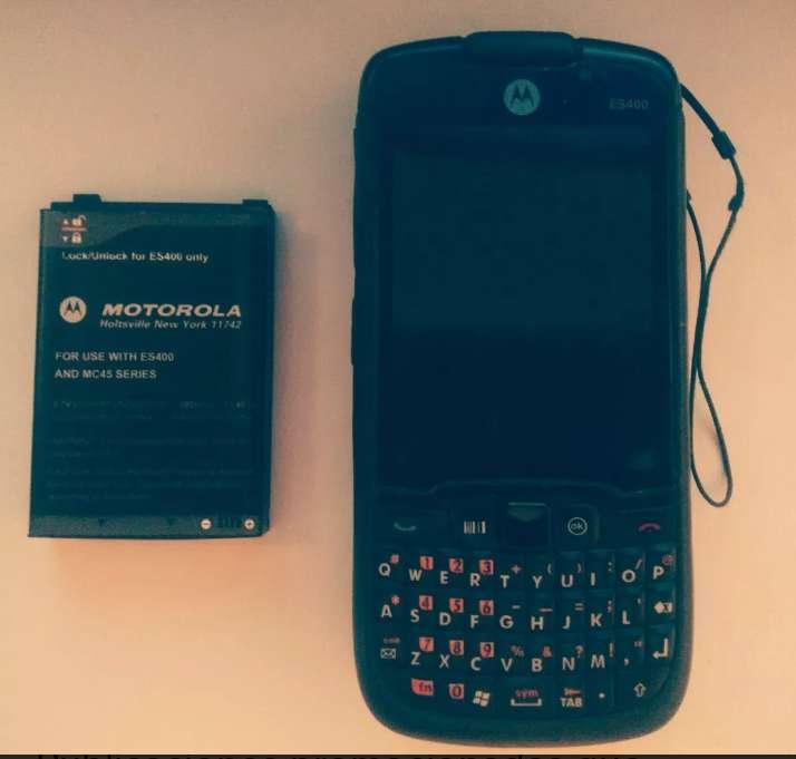 Motorola Es400 Symbol Cargador, Cable Y Estuche Original