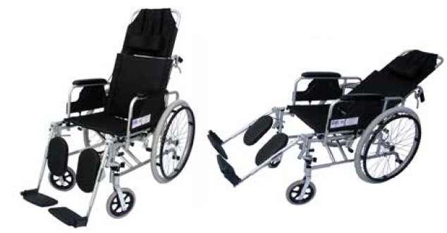 <strong>silla</strong> de ruedas reclinable en aluminio removible y reclinable llanta neumatica