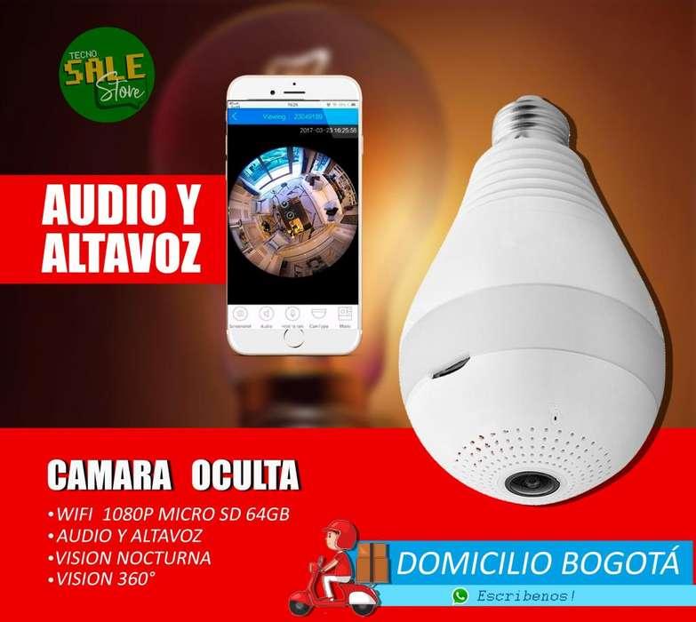 Camara Wifi BOMBILLO HD oculta