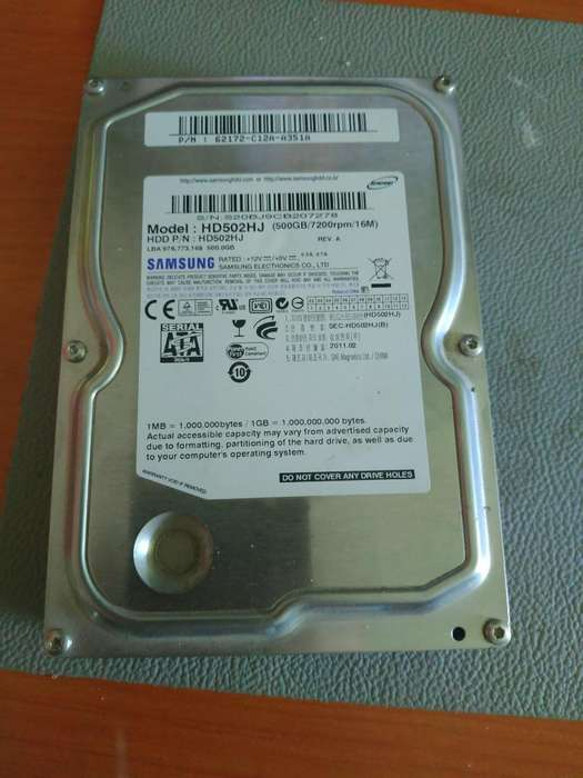 Disco Duro Sata2 de 500gb