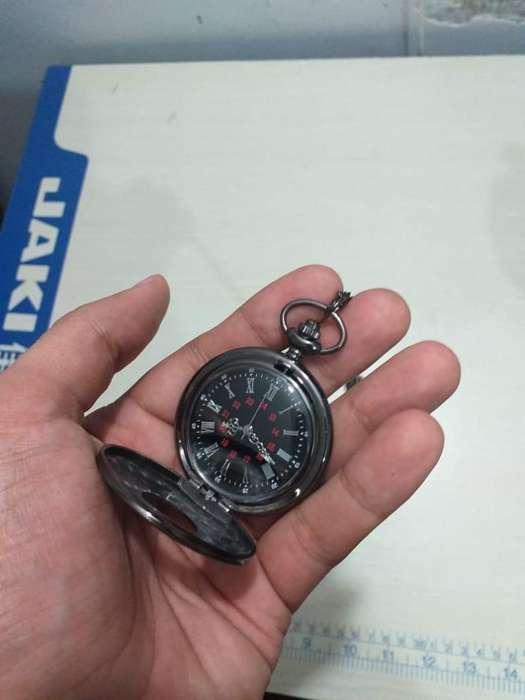 Reloj de Bolsillo Negro Clásico