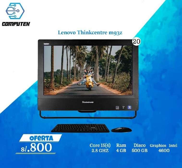 AIO Lenovo Thinkcentre M93z - Core i5 4Gen, Ram 4Gb, Disco 500 Gb, Pantalla 20
