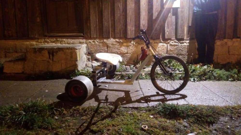 trike bike drift triciclo listo para colocar motor 110cc