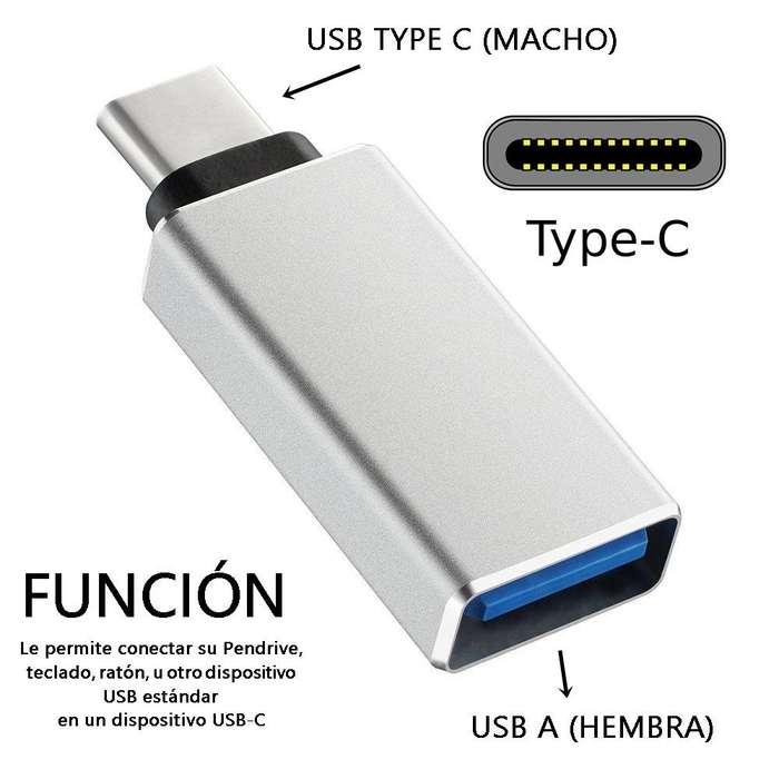 Adaptador Otg Usb Tipo C 3.1 Macho A Usb 3.0 Hembra