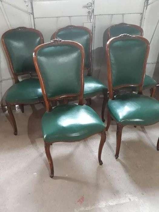 5 <strong>silla</strong>s antiguas estilo luis xv
