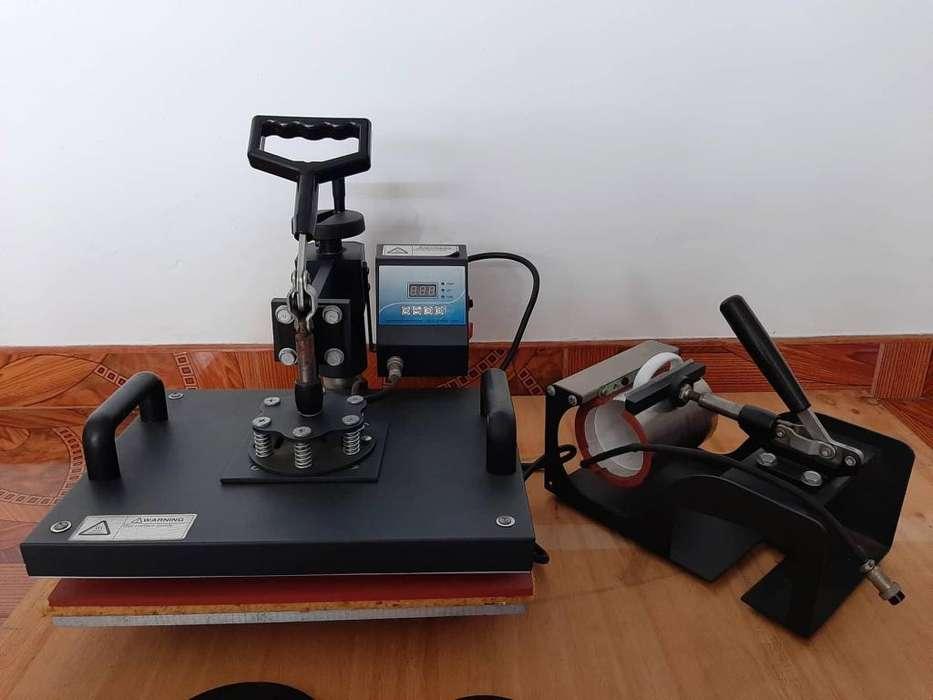 Máquina 8 en 1 para sublimar sublimación termofijadora