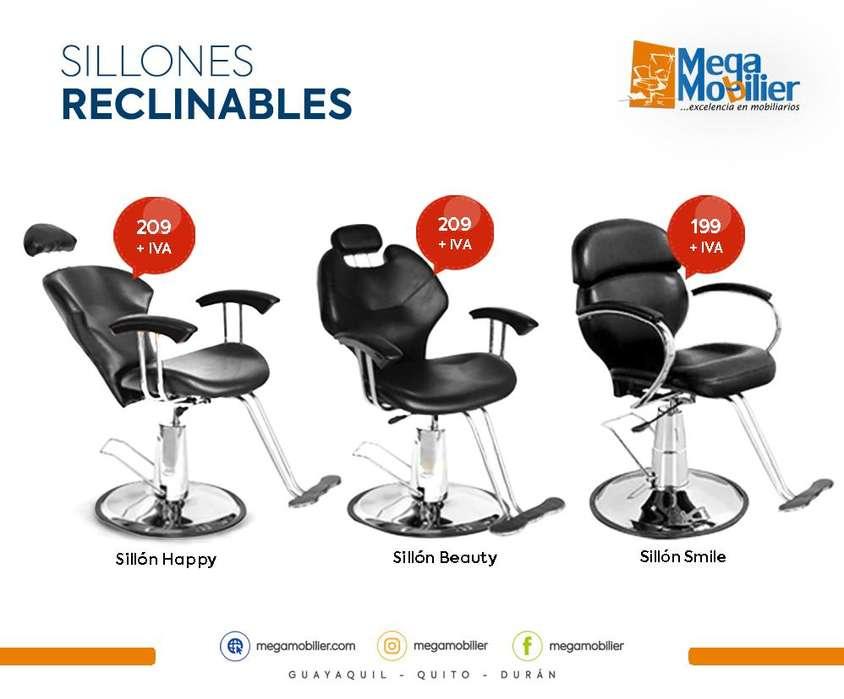 Megamobilier l Sillones para peluqueria, Muebles de Peluqueria, Mobiliario peluqueria, Muebles Spa, Sillones reclinables