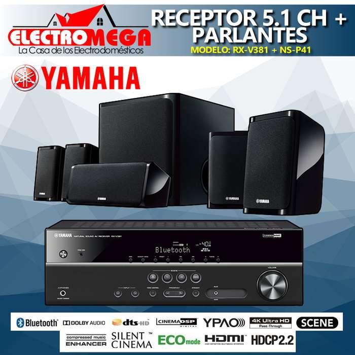 Amplificador Receptor YAMAHA Av 5.1 Ch Parlantes Yamaha 550w