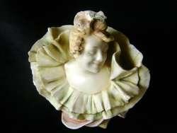 Exquisita figura dama Art Nouveau porcelana austríaca / Maxim Nord