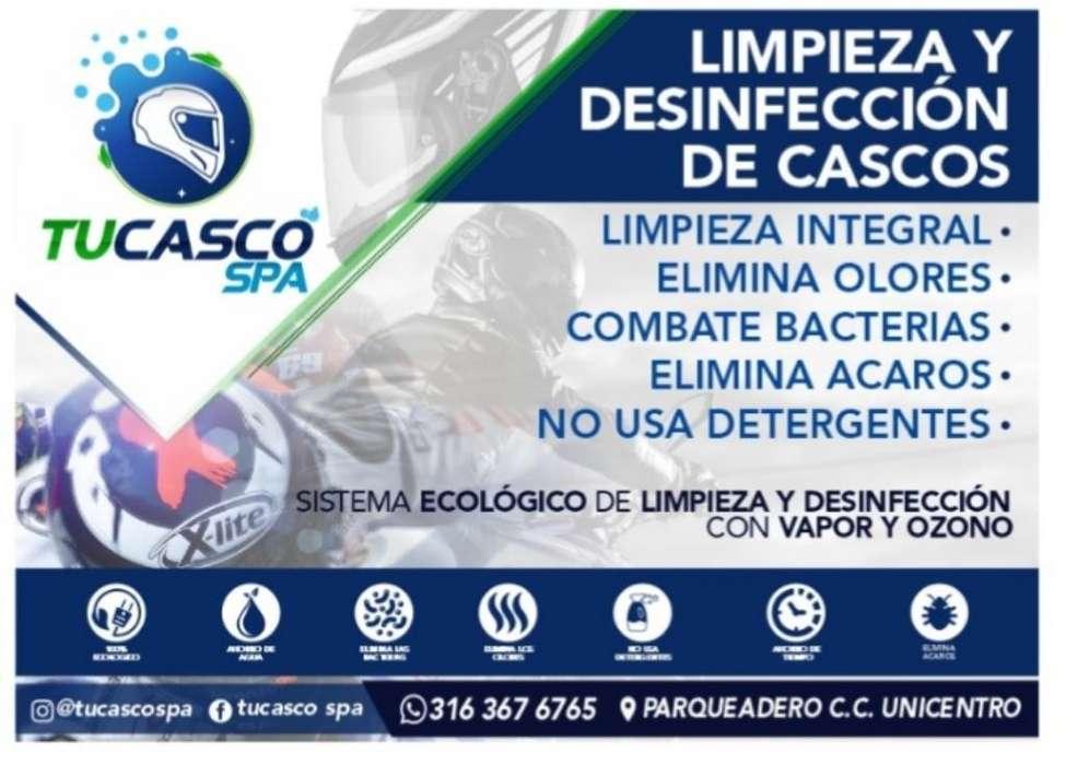 Limpieza Casco Moto