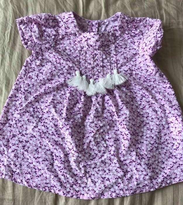 Vendo Hermoso Vestido Bebe Niña Morado