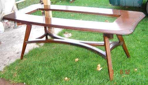 Excelente mesa <strong>comedor</strong> de diseño retro vintage 60 escandinava lustrada a nuevo