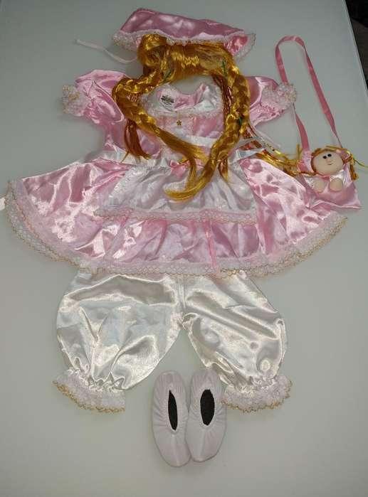 Disfraz Muñeca Niña de 24 a 36 Meses