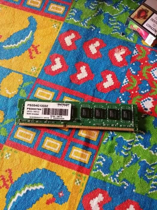 Vendo Memorias Ram Ddr3 4 Gb Usada