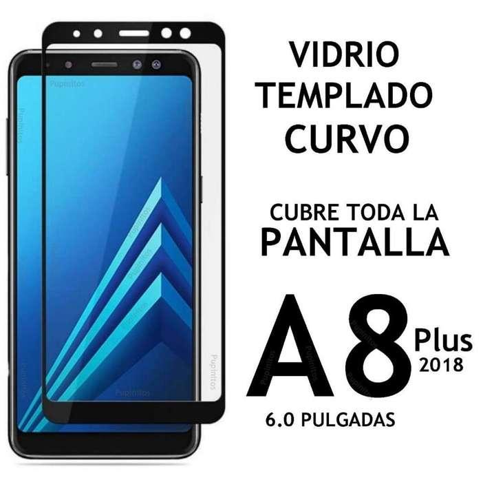 Vidrio Templado 5d Curvo Full Cover Samsung A8 2018 A8 Plus