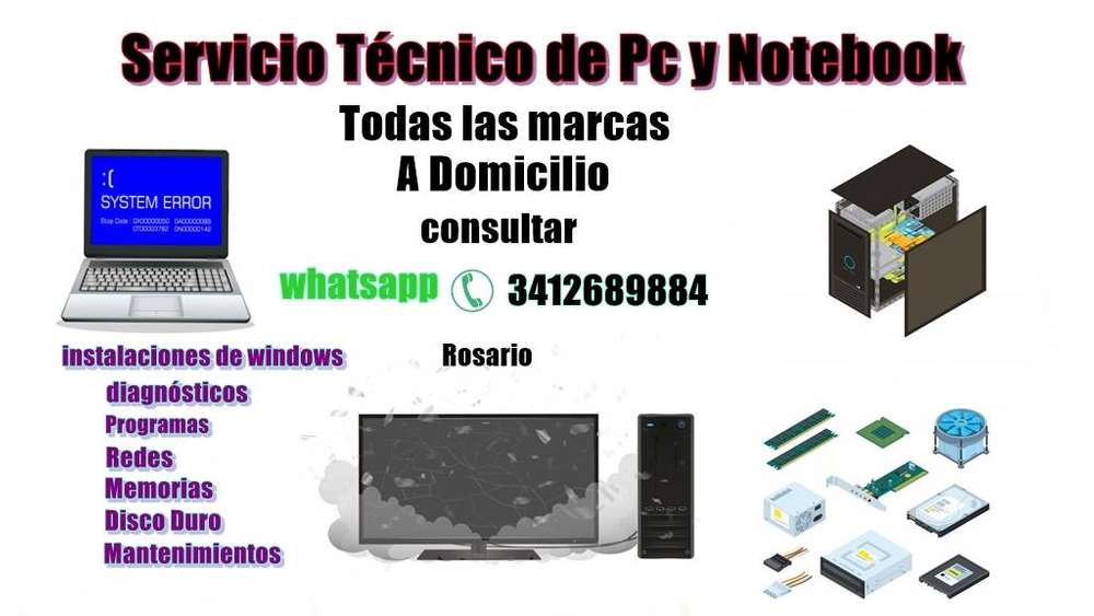 REPARACIONES DE PC Y NOTEBOOK A DOMICILIO