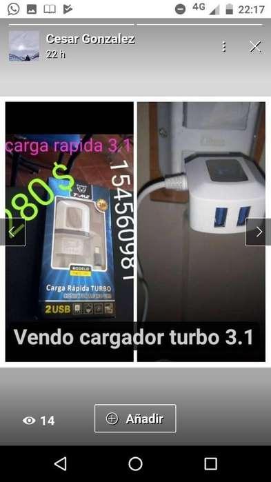 Cargador Turbo 3.1 Nuevossssss!!!!!