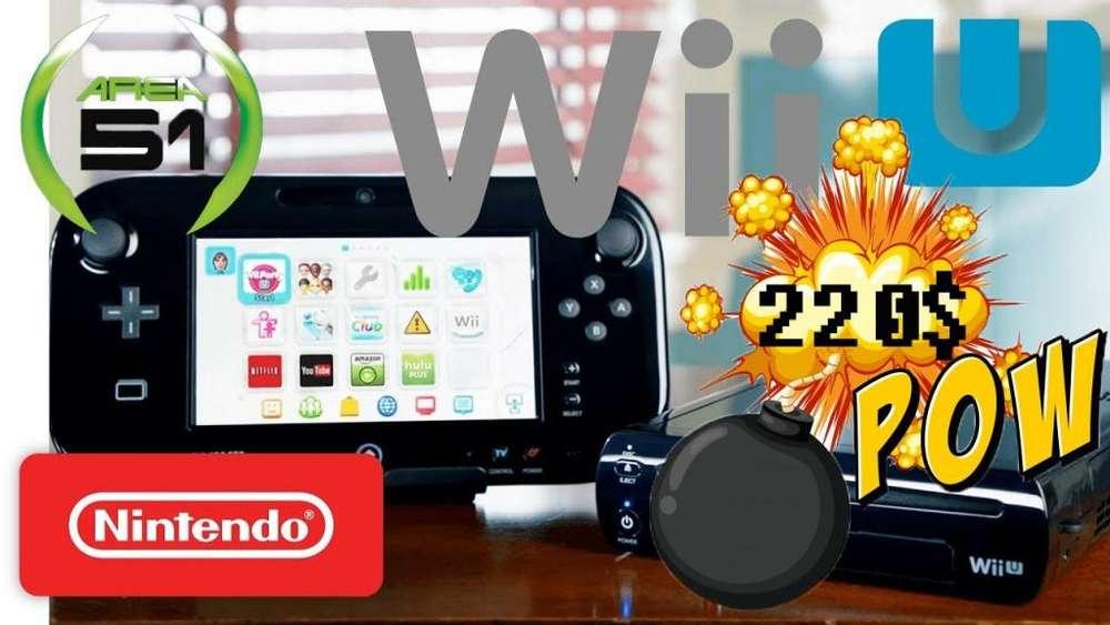 NINTENDO WII U DELUXE 32GB MAS CHIP Y JUEGOS