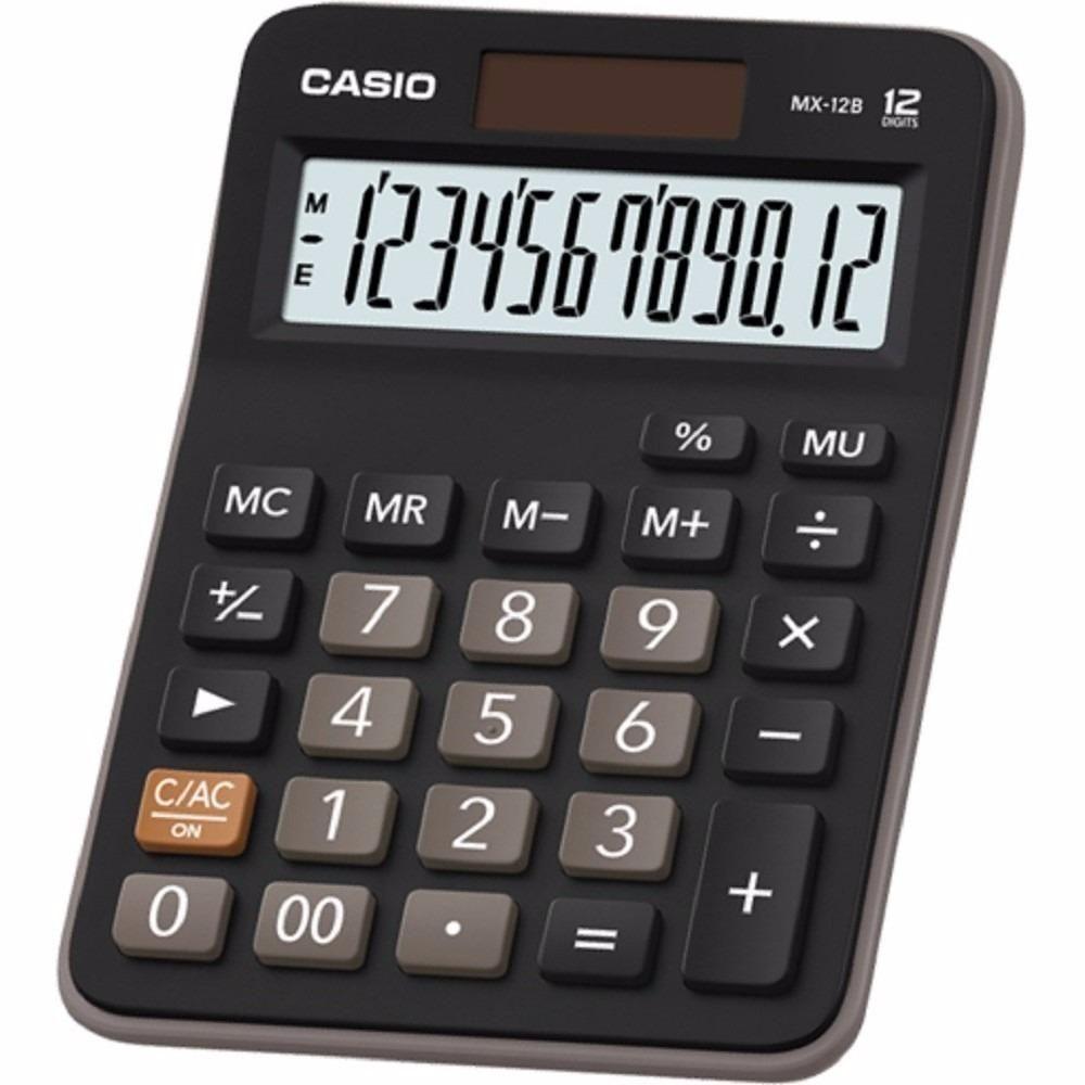 Calculadora CASIO MX 12B de 12 dígitos con celda solar NUEVA