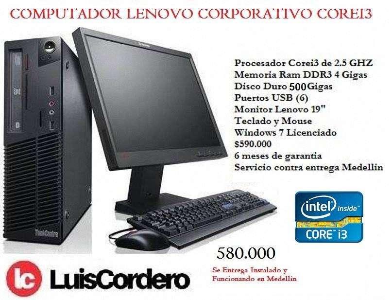 Computador Corei3 4 Ram 500 Disco Duro Lenovo Garantizado
