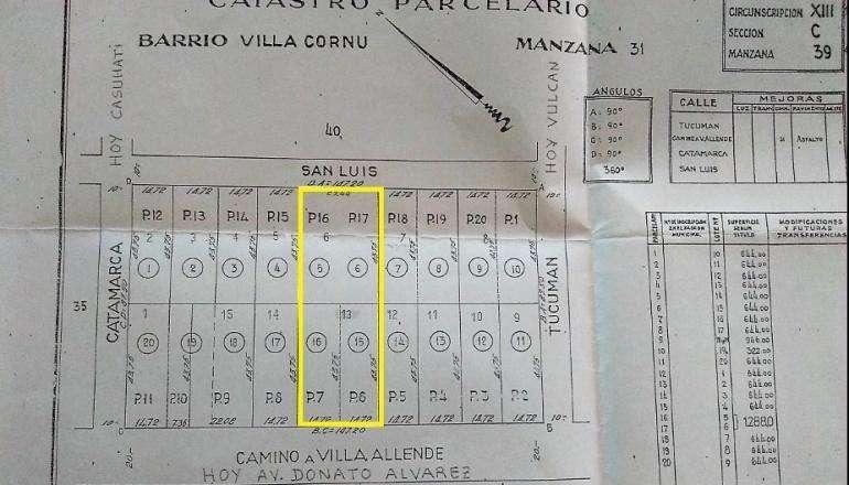 VENTA TERRENO -Donato Alvarez 9000, Villa Cornu, Cordoba, Cordoba