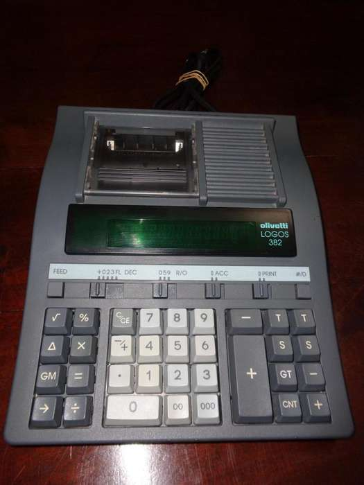 <strong>calculadora</strong> Electrica Olivetti Logos 382 C/impresion Papel