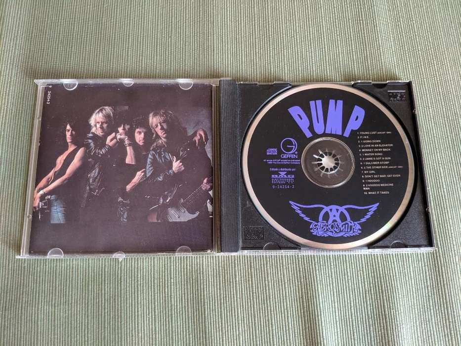 Cd Aerosmith- Pump