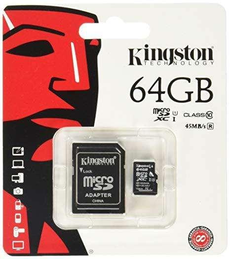 MICRO SD 64GB CLASE 10