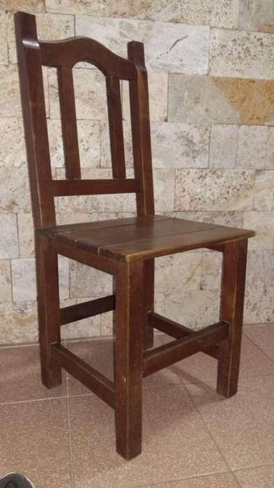 6 <strong>silla</strong>s de Algarrobo (usadas)