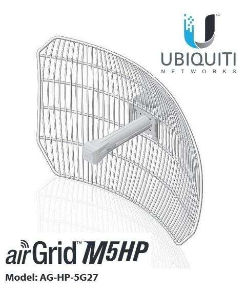 ACCESS POINT WIRELESS UBIQUITI AIRGRID M5 HP AGHP5G27 AIRMAX 5GHz 27dBi 316mW PoE OUTDOOR