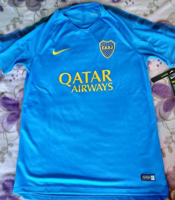 Remera Celeste Entrenamiento Boca Juniors Nike