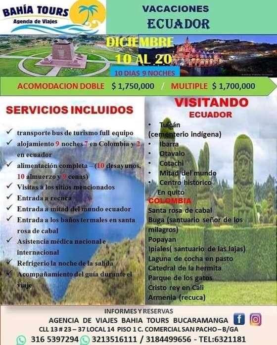 Tour Ecuador Salida Diciembre 10