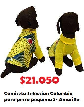 Camiseta Selección Colombia para perro pequeña S- Amarillo