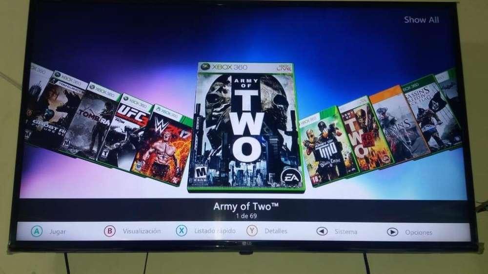 Vendo Xbox 360 2 Mandos 69 Juegos 0.5