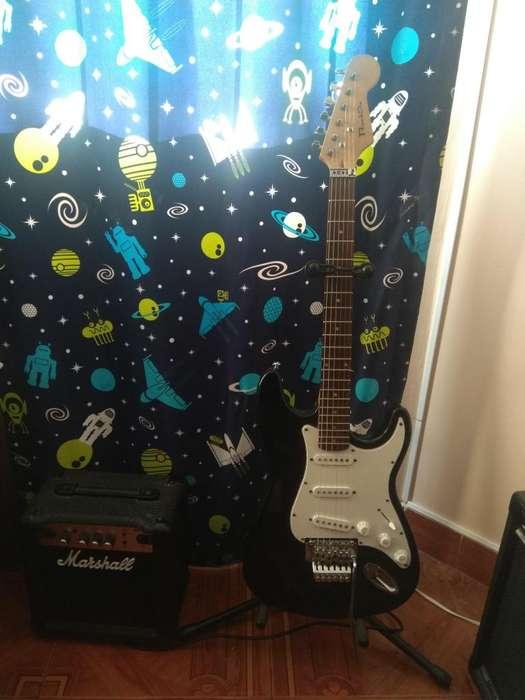 Guitarra Electrica Amplificador Marshall Soporte