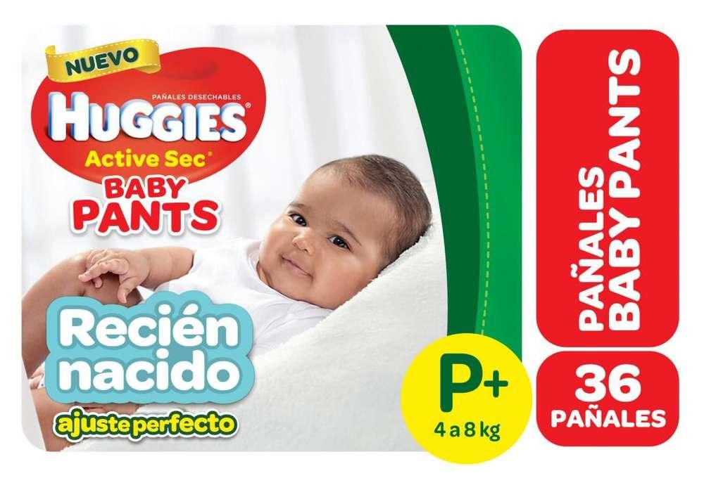 HUGGIES ACTUVE SEC PANTS Talle Px36 pack x 6 paquetes